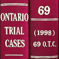 Collins costs (1998), 69 O.T.C. 41 (Ont. Ct. (G.D.))