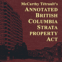 Annotated British Columbia Strata Property Act - Smythe & Vogt - cites Amberwood twice