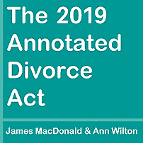 Annotated Divorce Act 2019 - MacDonald & Wilton - sums Kraft
