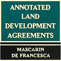 Annotated Land Development Agreements - Mascarin & deFrancesca - discusses Amberwood, cites Swamp