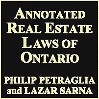 Annotated Real Estate Laws of Ontario - Petraglia Sarna - quotes Amberwood