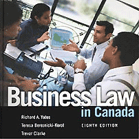 Business Law in Canada (8th ed.) -  Yates et al. - cites Amberwood