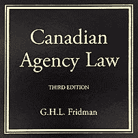 Canadian Agency Law (3rd ed.) - Fridman - cites Total Crane