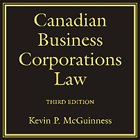Canadian Bus Corporations Law (3rd ed.) - McGuiness - cites St Lawrence
