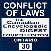 Conflict of Laws - CED Ont (4th ed.) - Jack - sums Machado