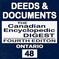 Deeds & Documents - CED Ont (4th ed.) - Levinson - cites Unilux