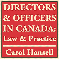 Directors & Officers in Canada - Hansell - cites St Lawrence 4 times
