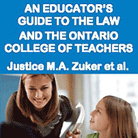 An Educators Guide to the Law and the Ontario College of Teachers - Zuker - cites Richmond