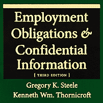 Employment Obligations & Confidential Information (3rd ed.) - Steel & Thornicroft - sums TSI (No1)