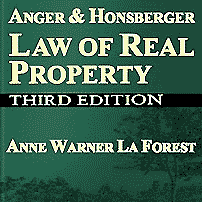 Law of Real Property (3rd ed.) - Anger & Honsberger & La Forest - cites Amberwood twice, Claussen,
