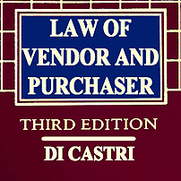 Law of Vendor & Purchaser (3rd ed.) - Di Castri - cites Amberwood 3 times, Morray twice, Claussen twice