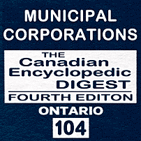 Municipal Corporations CED Ont (4th ed.) - Rogers & Desourdie - cites Amberwood, and Kawartha Downs
