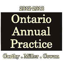 Ontario Annual Practice 2012-13 - Carthy et al. - cites Megens and Poulton; sums Morray