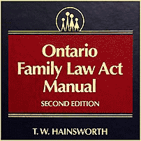 Ontario Family Law Act Manual (2nd ed.) - Hainsworth - sums Kraft