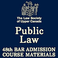 Public Law - 48th [LSUC] Bar Admission Course Materials- c.3 by Cowan - cites Megens