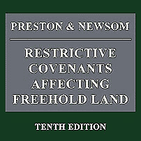 Restrictive Covenants Affecting Freehold Land (10th ed.) [UK] - Preston & Newsom - cites Amberwood