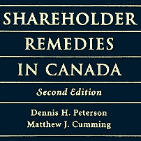 Shareholder Remedies in Canada (2nd ed.) - Peterson - cites St Lawrence 6 times