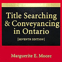 Title Searching & Conveyancing in Ontario (7th ed.) - Moore - cites Amberwood