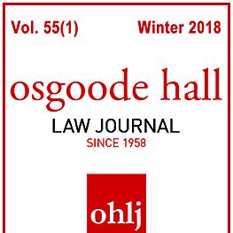 55 Osgoode Hall Law Journal 163 (2018) - Walsh paper quotes Machado