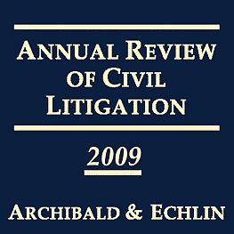 Annual Review of Civil Litigation 2009 - c.7 Carter cites Amberwood