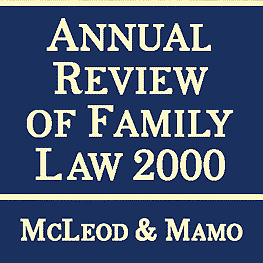 Annual Review of Family Law 2000 McLeod Mamo - sums Kraft