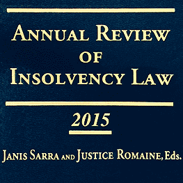 Annual Review of Insolvency Law 2015 - Teasdale paper cites St Lawrence