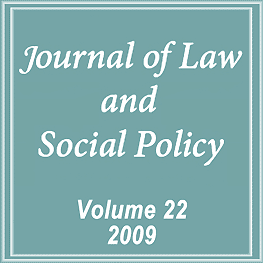 22 Journal of Law & Social Policy 115 (2009) - Young paper cites Megens