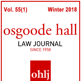 55 Osgoode Hall Law Journal 79 (2018) - Kennedy paper cites Machado 3 times