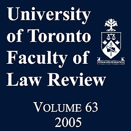 63 University of Toronto Faculty of Law Review 111 (2005) - Gourlay paper cites Poulton