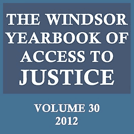 30 Windsor Yearbook of Access to Justice 79 (2012) - Ziff & Jiang paper discusses Amberwood