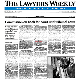 Lawyers Weekly (May 1,1998) p.5 -  Poulton win in Ont.Div.Ct.