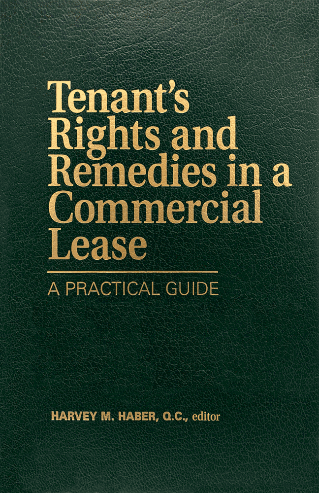 Tenant's Rights & Remedies in a Commercial Lease (1st ed., 1998) (Haber, ed.) - see c.4 by Simm