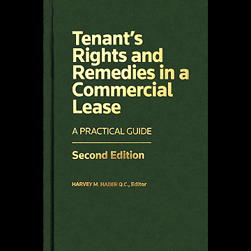 Tenant's Rights & Remedies in a Commercial Lease (2nd ed., 2014) (Haber, ed.) - see c.4 by Simm