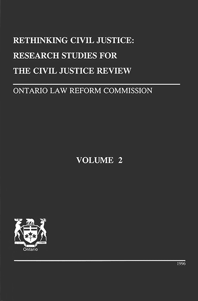 Civil Justice Review vol.2 (Research Studies) 1996 - containing chapter by Simm et al.
