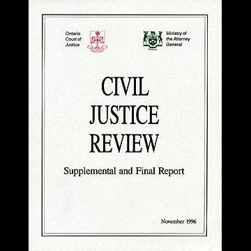 Civil Justice Review (Justice Osborne) 1996 - see vol.2 for chapter by Simm et al.