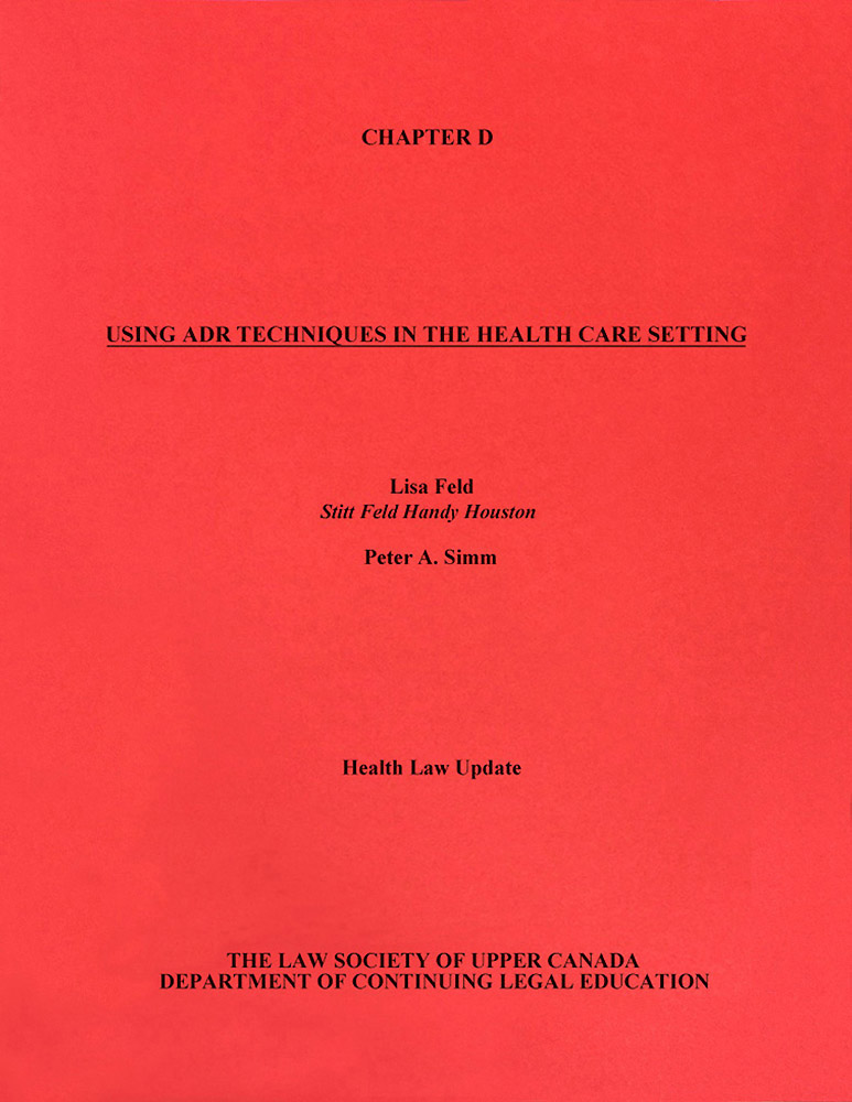 Health Law Update (LSUC CLE 1996) -