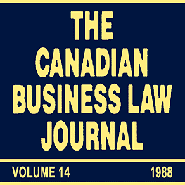 14 Canadian Business Law Journal 387-398 (1988) Trebilcock - assisted