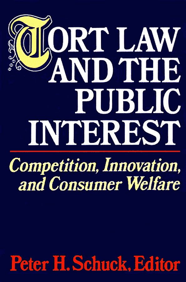 Tort Law and Public Interest 1991 c.8 Trebilcock - assisted