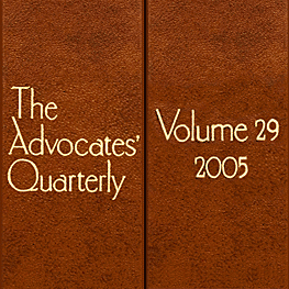 29 Advocates Quarterly 476 (2005) - Perell paper discusses Simm 1998 Covenants