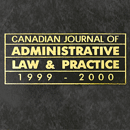 13 Canadian Journal of Administrative Law & Practice 51 (1999-2000) - Joachim paper cites Simm 1999 ADR & Civil