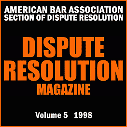 5 Dispute Resolution Mag 31 (1998) - Boskey paper sums Feld & Simm 1998 Mediating Professional Misconduct