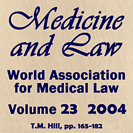 23 Medicine and Law Journal 165-182 (2004) Hill paper cites Feld & Simm 1997 c.10