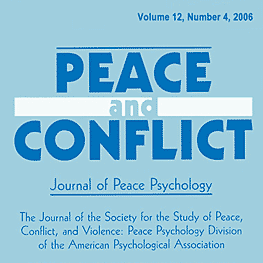 12 Peace and Conflict: Journal of Peace Psychology 367 (2006) - Kressel paper twice cites Feld & Simm 1998