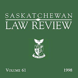 61 Sask Law Review 597 (1998) - Stack review recommends Feld & Simm 1997 c.10