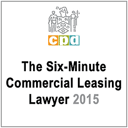 Six-Minute Commercial Leasing Lawyer 2015 (LSUC CPD) c.7 by Michaeloff - recommends Simm 2014 Covenants