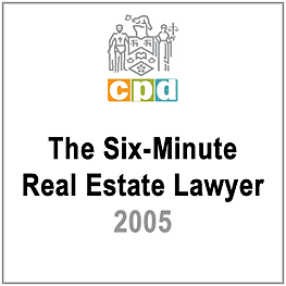 Six-Minute Real Estate Lawyer 2005 (LSUC CPD) c.16 by Lem & Clark - recommends Simm 2002 Swamp