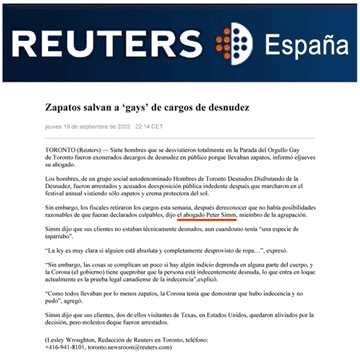 Reuters España 2002-09-19 - Charges gone