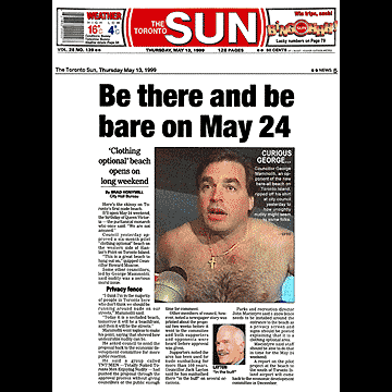 Toronto Sun 1999-05-13 p5 - Toronto Council creates Hanlan's Point CO-zone