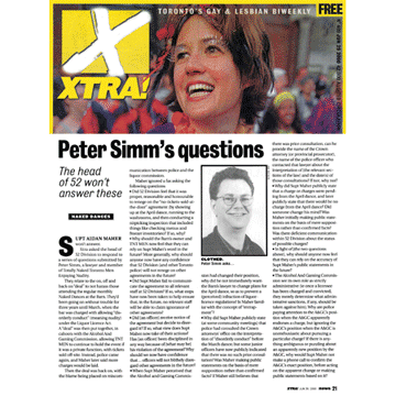 Xtra [Toronto] 2000-06-29 p.21 - Simm's questions for police re The Barn
