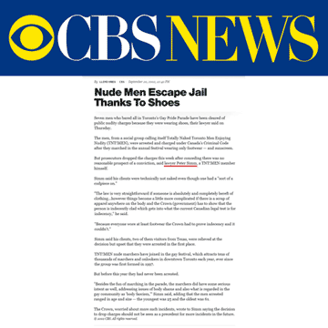 CBS News 2002-09-20 - Simm convinces prosecutors to drop nudity charges against Pride marchers